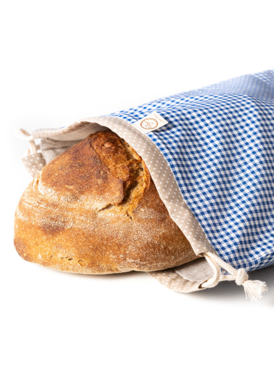 Bagydesign Chlebovka - pytlík na chleba modrá kostka