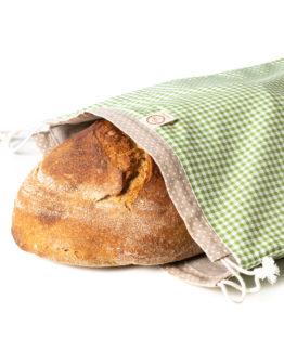 Bagydesign Chlebovka - pytlík na chleba zelená kostka