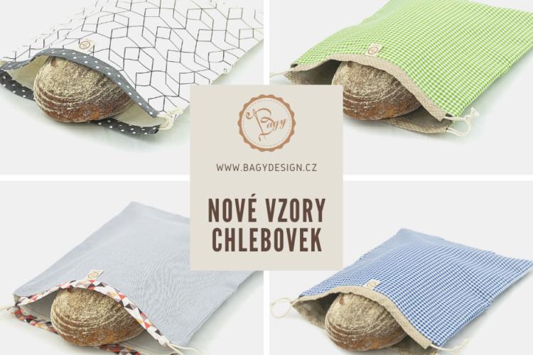 Nové vzory Chlebovek na e-shopu Bagydesign
