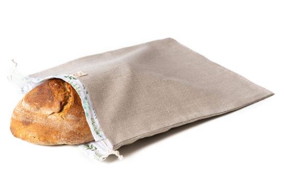 Bagydesign Chlebovka - pytlík na chleba režný s lístečkovým tunýlkem