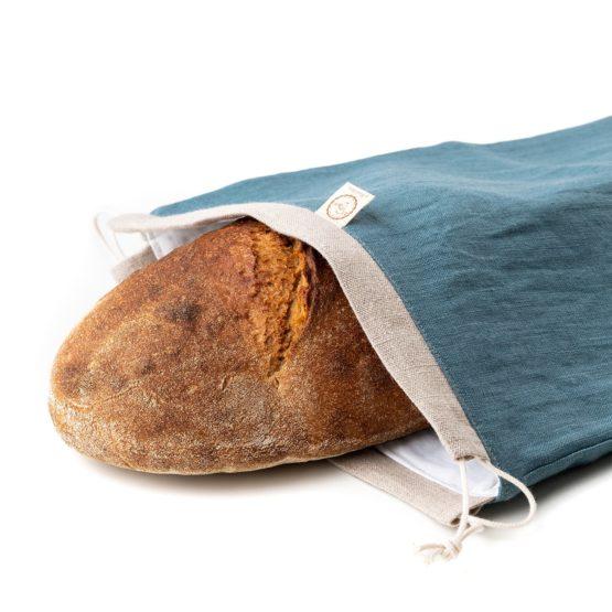 Chlebovka Bagydesign - pytlík na chleba petrolejový