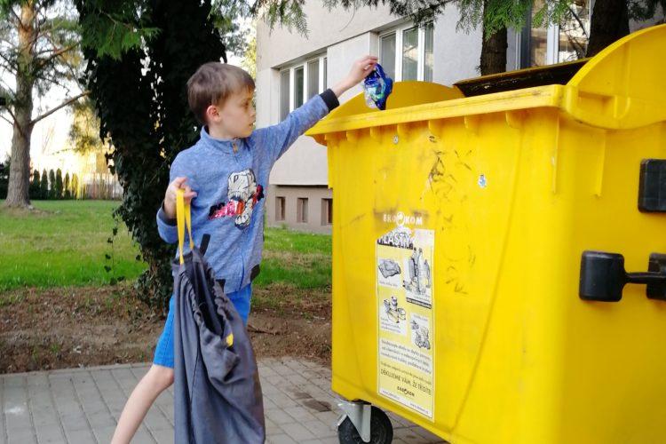 Pratelný pytel na tříděný odpad Bagydesign